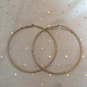 Extra large gold hoop earrings